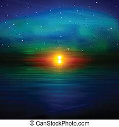 Trasfondo abstracto con el amanecer del mar
