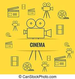 Trasfondo abstracto con el cine