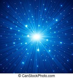 Trasfondo abstracto con estrellas