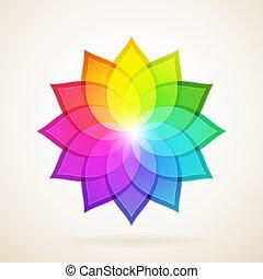 Trasfondo abstracto con flor colorida. Ilustración de vectores