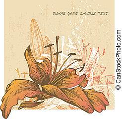 Trasfondo abstracto con floración I