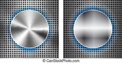 Trasfondo abstracto con instrucción metálica