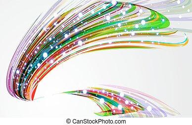 Trasfondo abstracto con líneas dobladas.