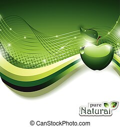 Trasfondo abstracto con manzana