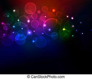Trasfondo abstracto con puntos brillantes, formato eps10