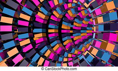 Trasfondo abstracto con túnel tecnológico