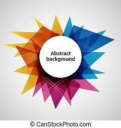 Trasfondo abstracto con triángulos de diseño de colores