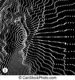 Trasfondo abstracto de la red.