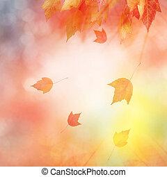 Trasfondo abstracto de otoño