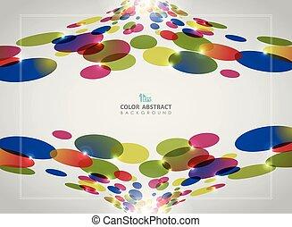 Trasfondo abstracto del colorido círculo con brillos.