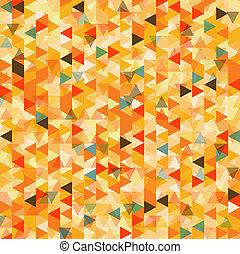 Trasfondo abstracto del triángulo, vector