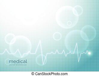 Trasfondo abstracto médico con electrocardiograma
