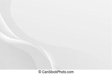 Trasfondo abstracto ondulado blanco y suave. Ilustración y vector