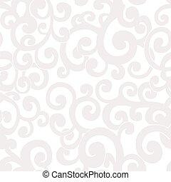 Trasfondo abstracto sin costuras con remolinos de colores blancos y crema