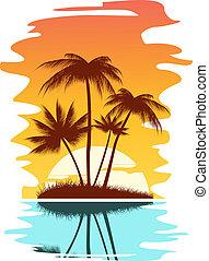 Trasfondo abstracto tropical