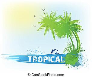 Trasfondo abstracto tropical. Vector
