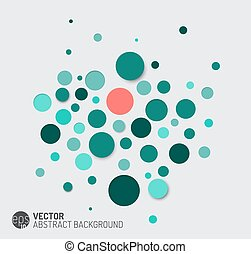 Trasfondo abstracto vector con círculos azules