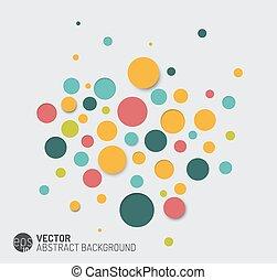 Trasfondo abstracto vectorial con círculos coloridos