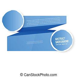 Trasfondo abstracto vectorial. Espacio azul para el texto