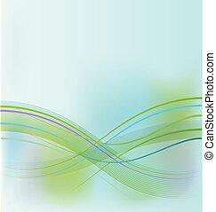 Trasfondo abstracto verde azul