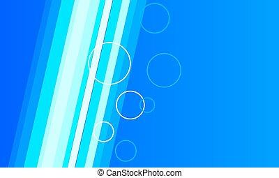 Trasfondo azul abstracto con líneas y anillos
