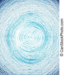 Trasfondo azul abstracto de líneas circulares