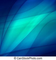 Trasfondo azul abstracto, diseño ondulado futurista