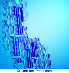 Trasfondo azul abstracto para el diseño.