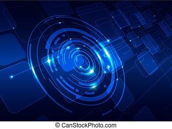 Trasfondo azul de tecnología abstracta