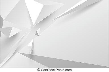 Trasfondo blanco 3D poligonal. Ilustración de vectores