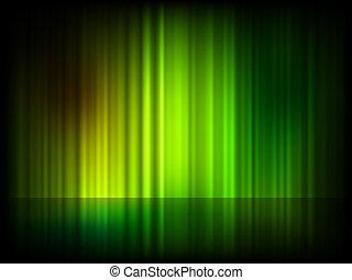 Trasfondo brillante abstracto verde. EPS 8