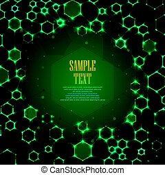 Trasfondo de ADN molecular abstracto