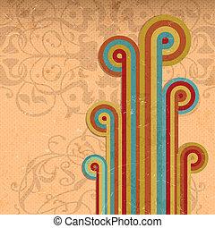 Trasfondo de arco iris cosechado abstracto