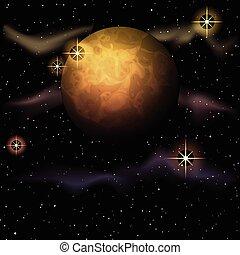 Trasfondo de astronomía planetaria