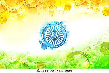 Trasfondo de bandera india abstracto