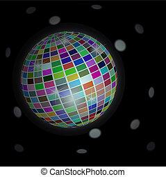 Trasfondo de bola Disco, vector