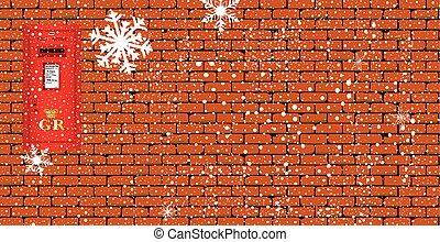 Trasfondo de caja navideña