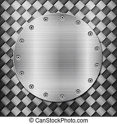 Trasfondo de carbono y placa de círculo