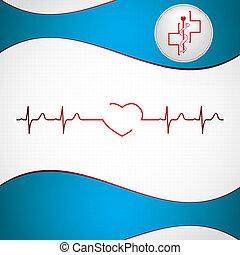 Trasfondo de cardiología médica abstracta