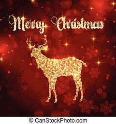Trasfondo de ciervos navideños