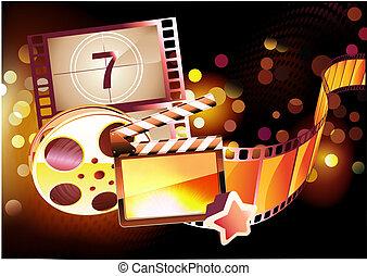 Trasfondo de cine abstracto