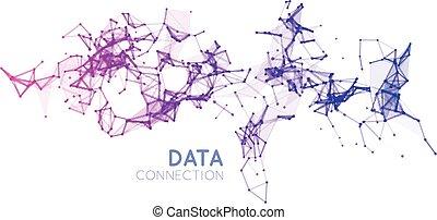 Trasfondo de conexión de red abstracta