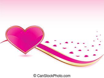 Trasfondo de corazón rosa