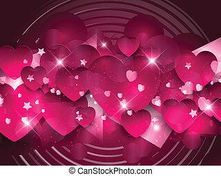 Trasfondo de corazones rosados