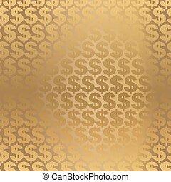 Trasfondo de dólares dorados