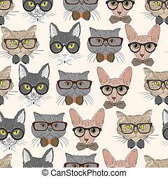 Trasfondo de diseño de gatos sin costura