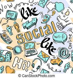 Trasfondo de diseño de las redes sociales