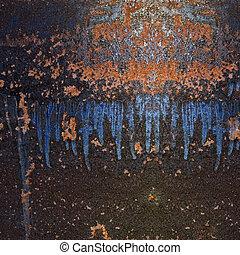 Trasfondo de grunge abstracto, textura de óxido de metal