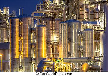Trasfondo de instalación química