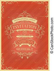 Trasfondo de invitación roja